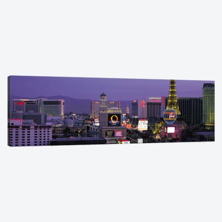 Las Vegas Panoramic Skyline Cityscape (Night) Canvas Print #6225} by Unknown Artist Canvas Art