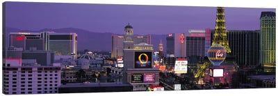 Las Vegas Panoramic Skyline Cityscape (Night) Canvas Print #6225