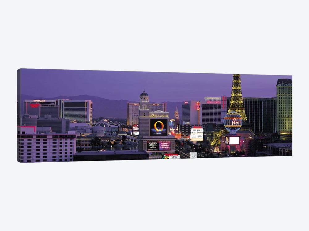 Las Vegas Panoramic Skyline Cityscape (Night) by Unknown Artist 1-piece Canvas Art