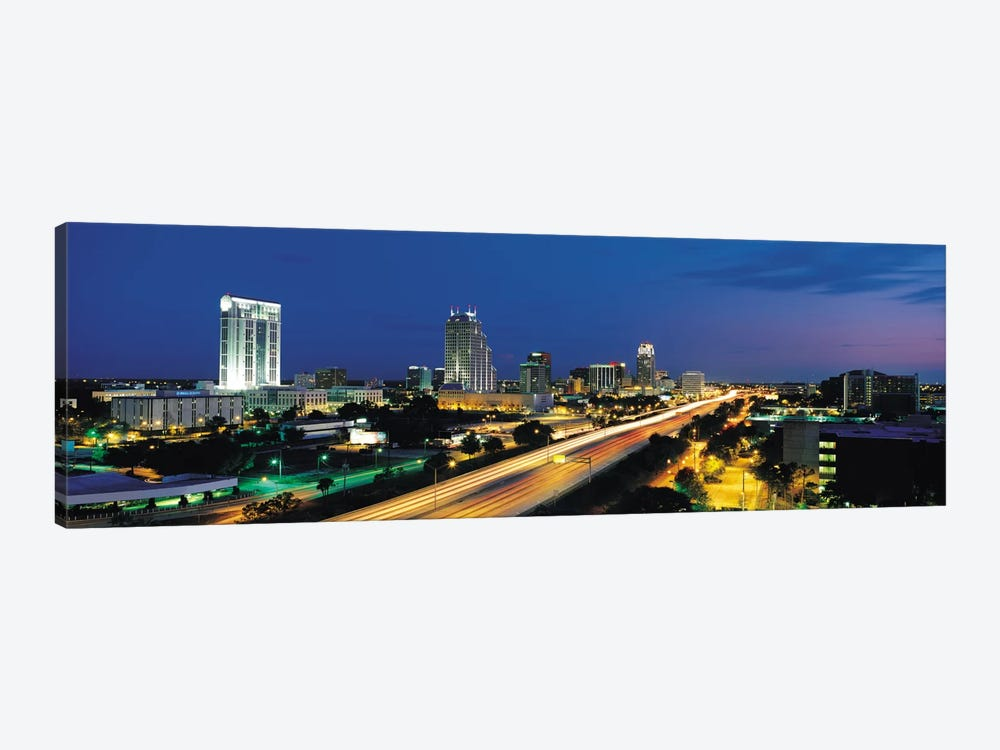Orlando Panoramic Skyline Cityscape (Night) 1-piece Canvas Art