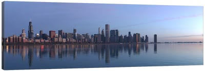 Chicago Panoramic Skyline Cityscape (Sunrise) Canvas Print #6253