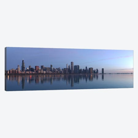 Chicago Panoramic Skyline Cityscape (Sunrise) Canvas Print #6253} by Unknown Artist Canvas Wall Art