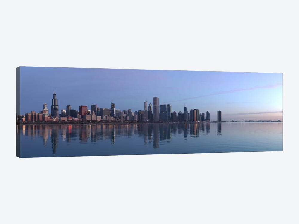 Chicago Panoramic Skyline Cityscape (Sunrise) by Unknown Artist 1-piece Canvas Print