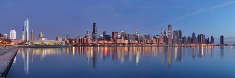 Chicago Panoramic Skyline Cityscape Sunset Unknown Artist Icanvas
