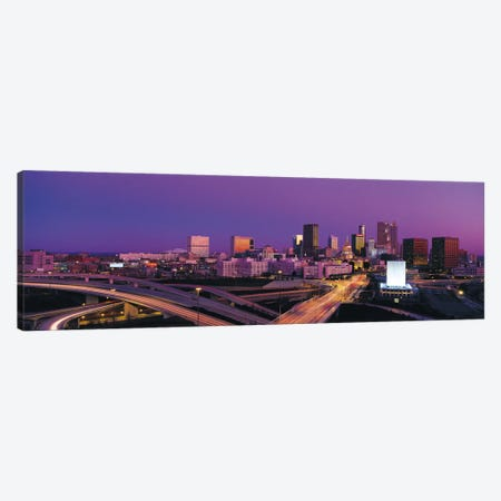 Atlanta Panoramic Skyline Cityscape (Sunset) Canvas Print #6270} by Unknown Artist Canvas Wall Art