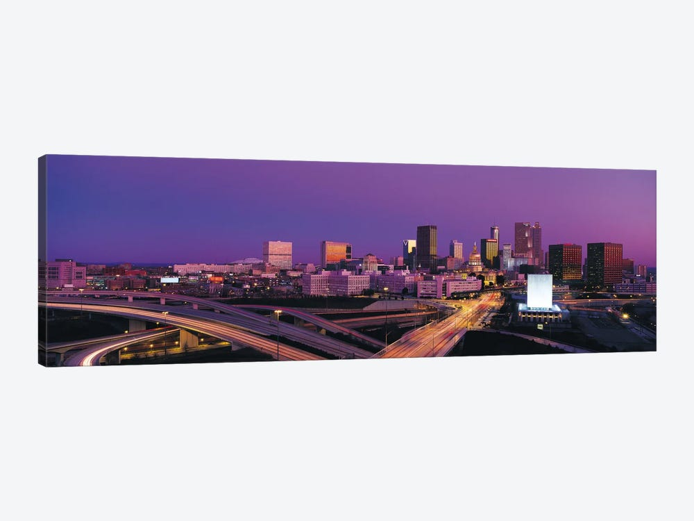 Atlanta Panoramic Skyline Cityscape (Sunset) by Unknown Artist 1-piece Canvas Wall Art