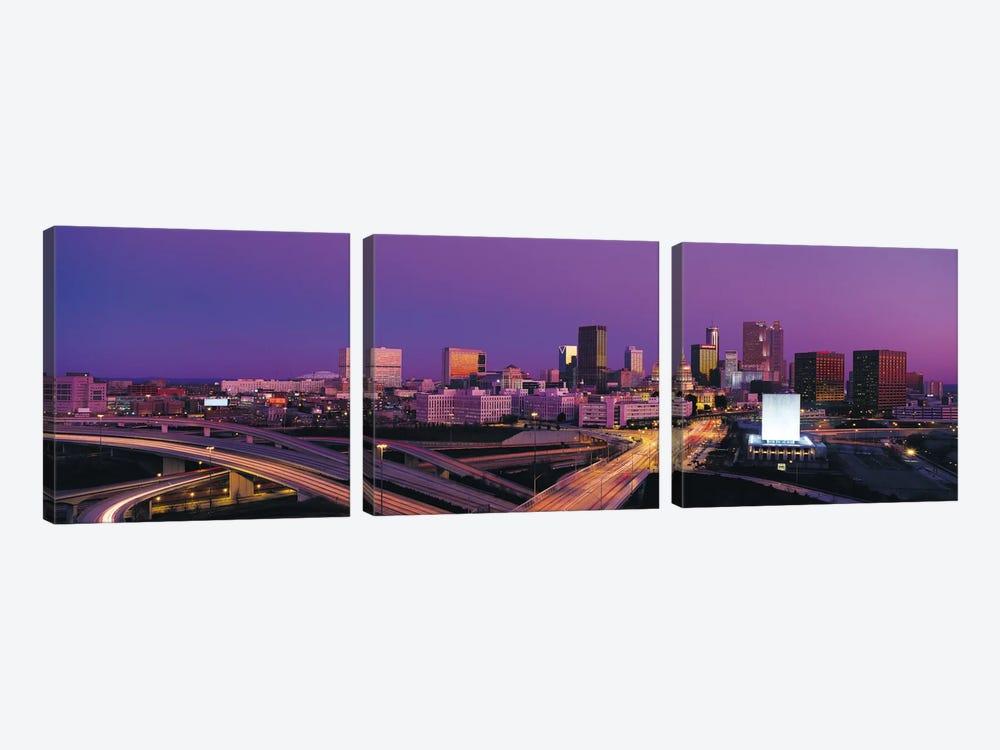 Atlanta Panoramic Skyline Cityscape (Sunset) by Unknown Artist 3-piece Canvas Art