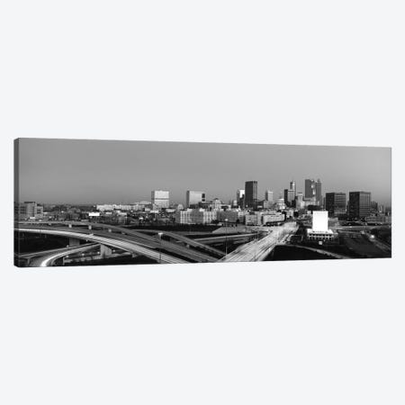 Atlanta Panoramic Skyline Cityscape (Black & White - Sunset) Canvas Print #6271} by Unknown Artist Canvas Art