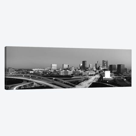 Atlanta Panoramic Skyline Cityscape (Black & White - Sunset) Canvas Print #6271} by Unknown Artist Canvas Art