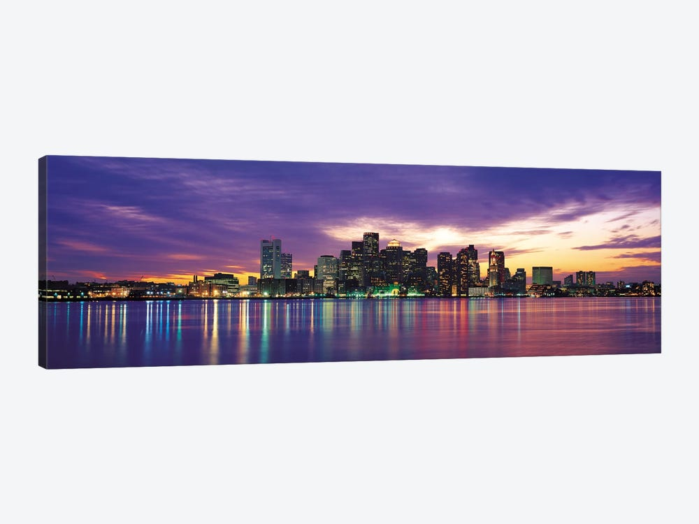 Boston Panoramic Skyline Cityscape (Sunset) 1-piece Canvas Print