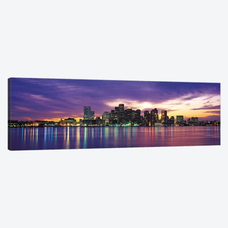 Boston Panoramic Skyline Cityscape (Sunset) Canvas Print #6273} by Unknown Artist Canvas Artwork