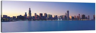 Chicago Panoramic Skyline Cityscape (Sunset) Canvas Art Print