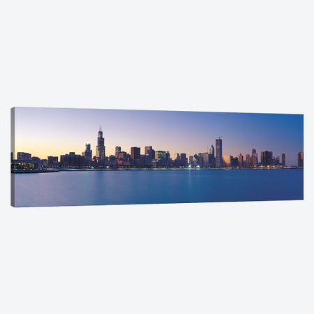 Chicago Panoramic Skyline Cityscape (Sunset) Canvas Print #6276} Art Print