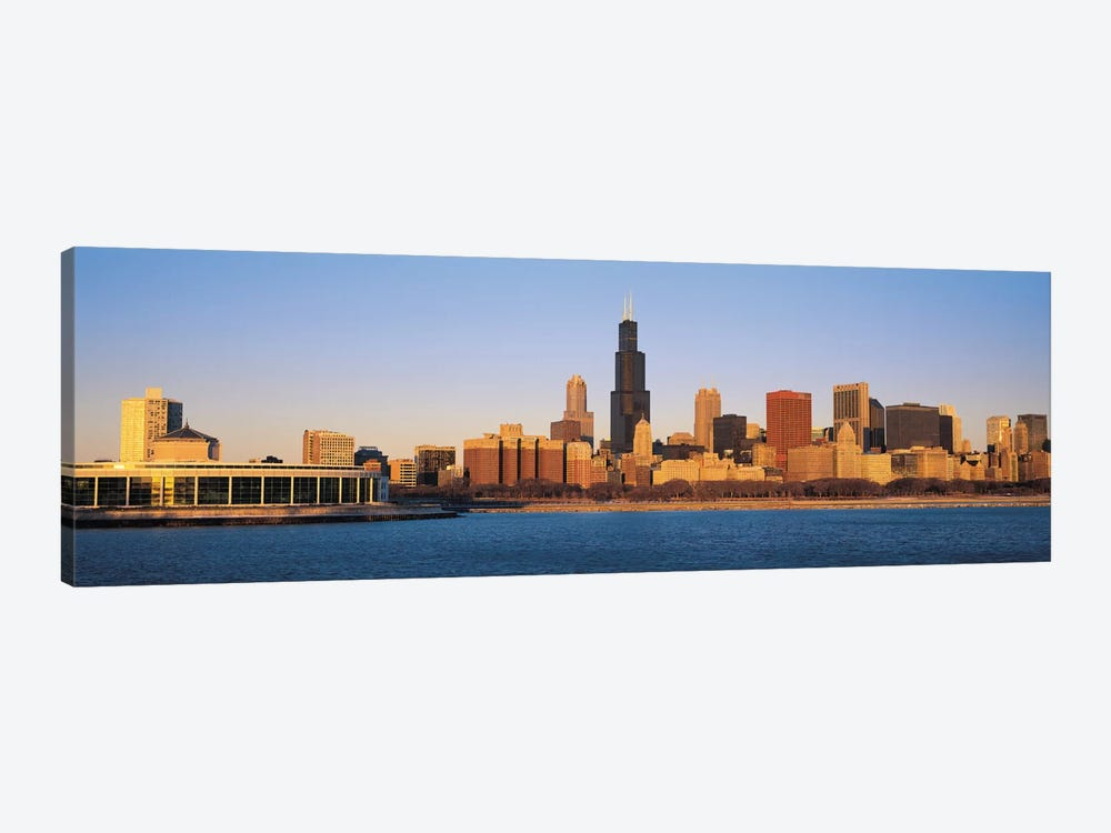 Chicago Panoramic Skyline Cityscape (Sunset) 1-piece Canvas Art