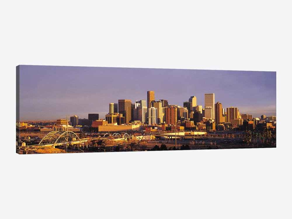 Denver Panoramic Skyline Cityscape (Sunset) by Unknown Artist 1-piece Canvas Wall Art