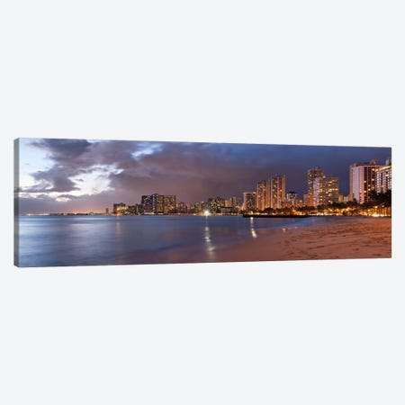 Honolulu Panoramic Skyline Cityscape (Sunset) Canvas Print #6288} by Unknown Artist Canvas Print