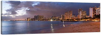 Honolulu Panoramic Skyline Cityscape (Sunset) Canvas Print #6288