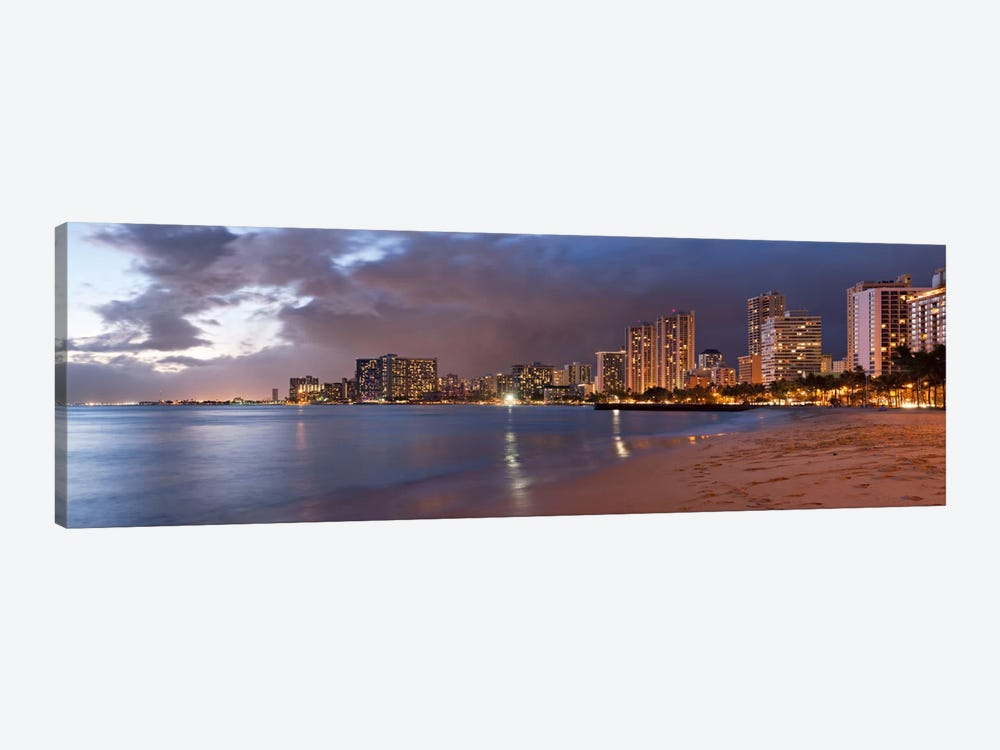 Honolulu Panoramic Skyline Cityscape (Sunset) by Unknown Artist 1-piece Art Print