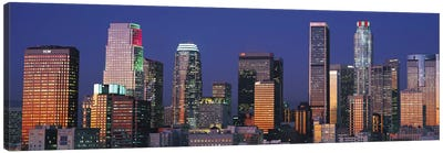 Los Angeles Panoramic Skyline Cityscape (Sunset) Canvas Print #6295