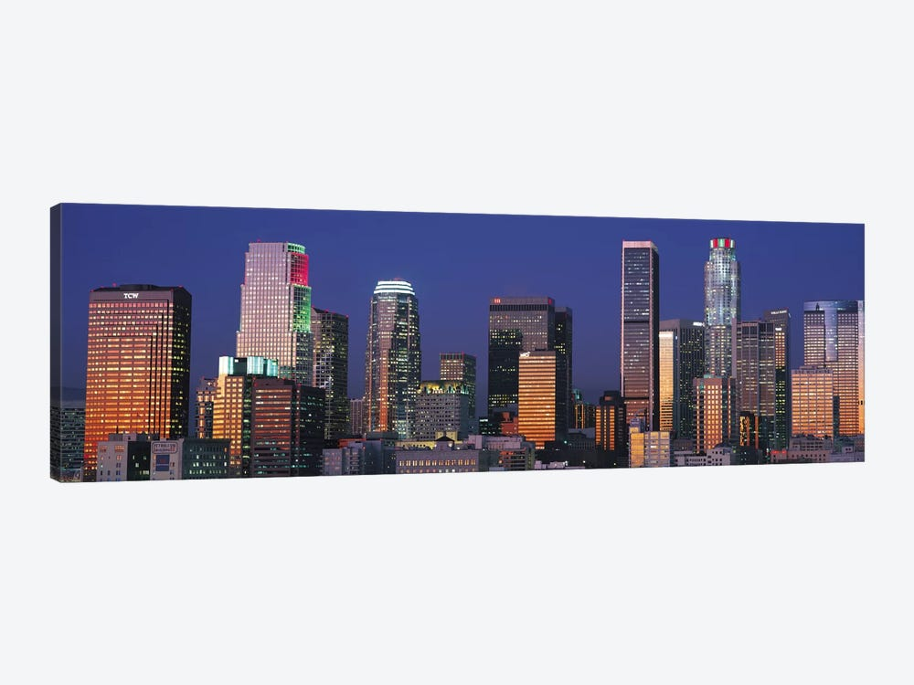 Los Angeles Panoramic Skyline Cityscape (Sunset) 1-piece Canvas Print