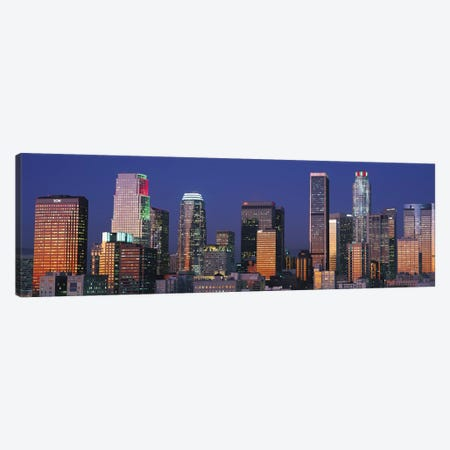 Los Angeles Panoramic Skyline Cityscape (Sunset) Canvas Print #6295} by Unknown Artist Canvas Art Print