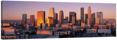 Los Angeles Panoramic Skyline Cityscape (Sunset) Canvas Print #6296