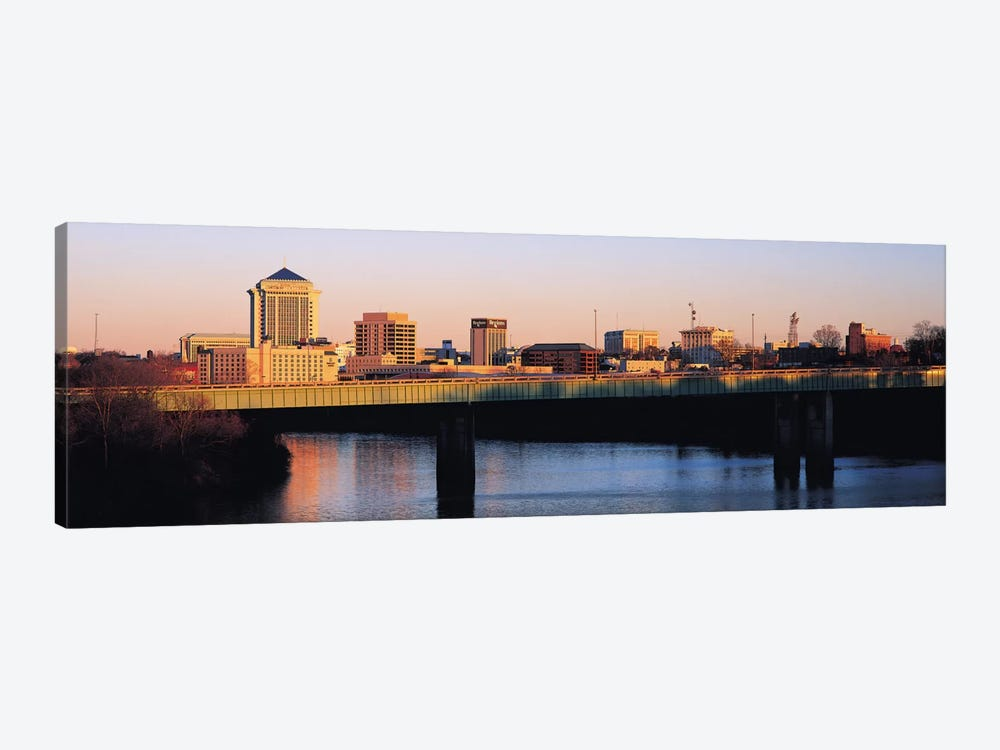 Montgomery Panoramic Skyline Cityscape (Sunset) by Unknown Artist 1-piece Canvas Wall Art