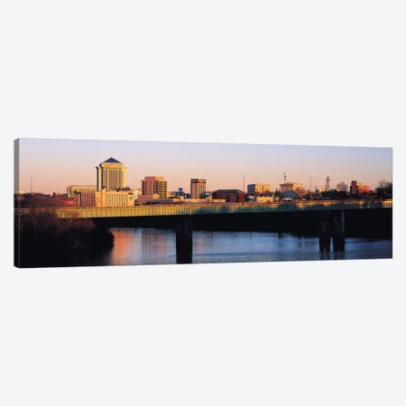 Montgomery Panoramic Skyline Cityscape (Sunset) Canvas Print #6298} by Unknown Artist Canvas Art