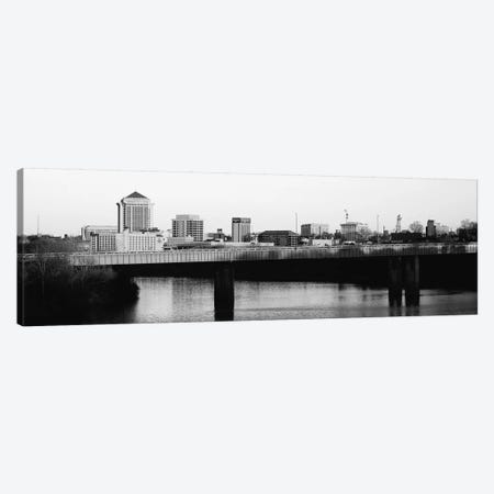 Montgomery Panoramic Skyline Cityscape (Black & White - Sunset) Canvas Print #6299} by Unknown Artist Canvas Wall Art