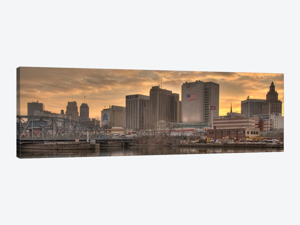 Newark Panoramic Skyline Cityscape (Sunset) 1-piece Canvas Artwork