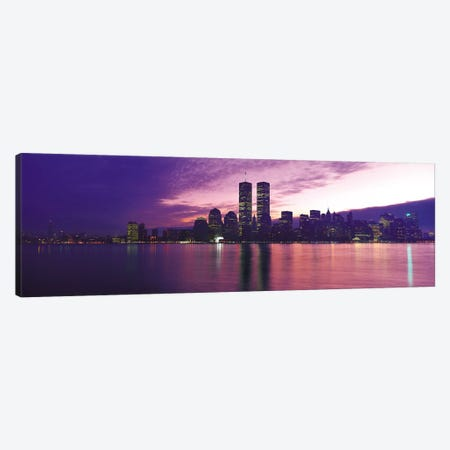 New York Panoramic Skyline Cityscape (Sunset) Canvas Print #6303} by Unknown Artist Canvas Artwork
