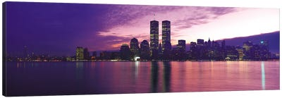 New York Panoramic Skyline Cityscape (Sunset) Canvas Print #6303