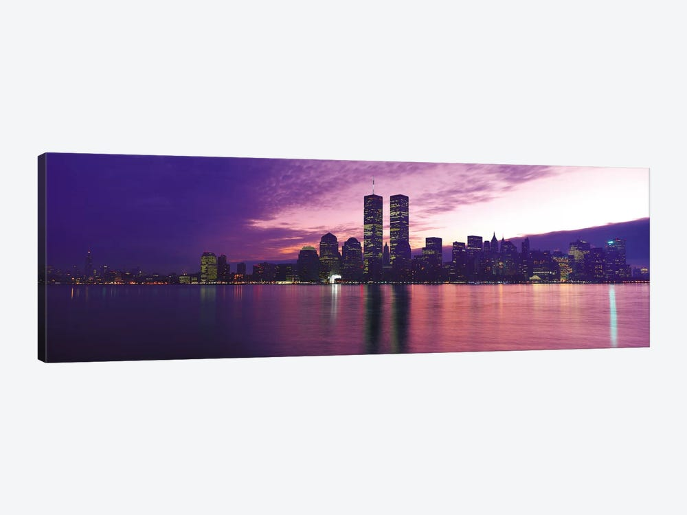 New York Panoramic Skyline Cityscape (Sunset) by Unknown Artist 1-piece Canvas Print