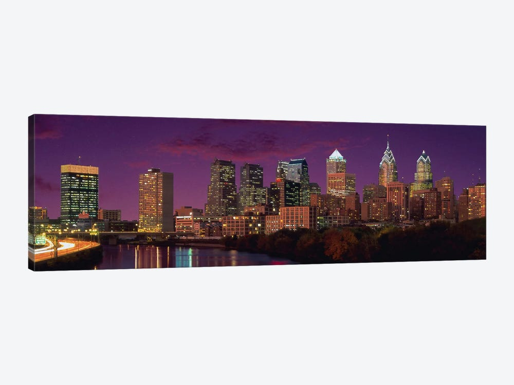 Philadelphia Panoramic Skyline Cityscape (Sunset) by Unknown Artist 1-piece Canvas Artwork