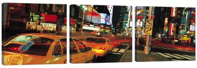 New York Panoramic Skyline Cityscape (Times Square at Night) Canvas Art Print