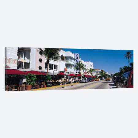 Miami Panoramic Skyline Cityscape (South Beach - Day) Canvas Print #6321} by Unknown Artist Canvas Wall Art