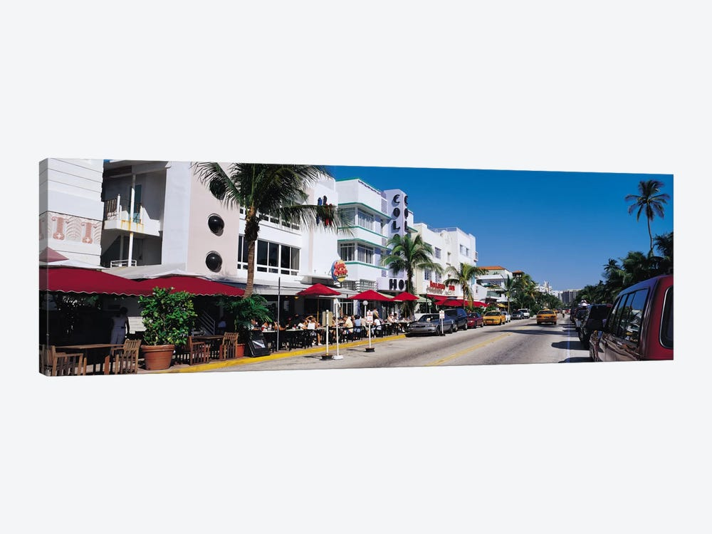 Miami Panoramic Skyline Cityscape (South Beach - Day) by Unknown Artist 1-piece Canvas Art Print