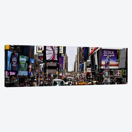 New York Panoramic Skyline Cityscape (Times Square - Day) Canvas Print #6325} by Unknown Artist Canvas Print