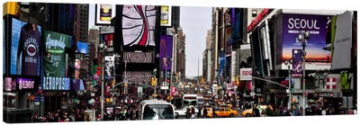 New York Panoramic Skyline Cityscape (Times Square - Day) Canvas Print #6325