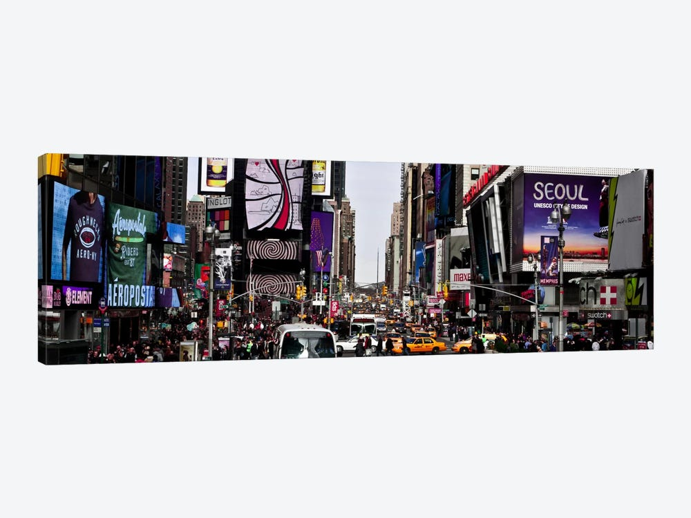 New York Panoramic Skyline Cityscape (Times Square - Day) 1-piece Canvas Art Print