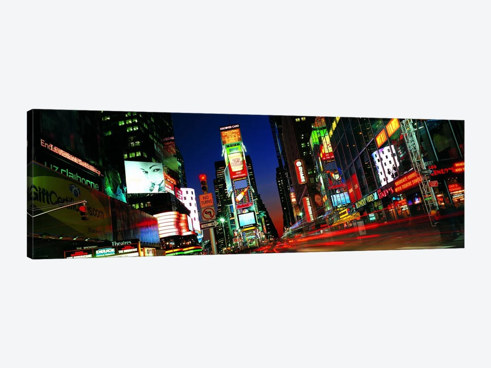 New York Panoramic Skyline Cityscape (Times Square - Night) by Unknown Artist 1-piece Art Print
