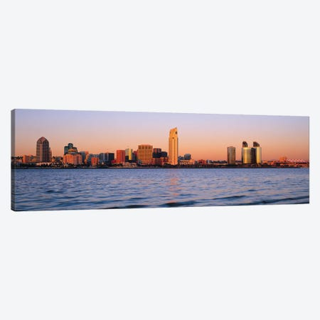 San Diego Panoramic Skyline Cityscape (Sunset) Canvas Print #6332} by Unknown Artist Canvas Art Print
