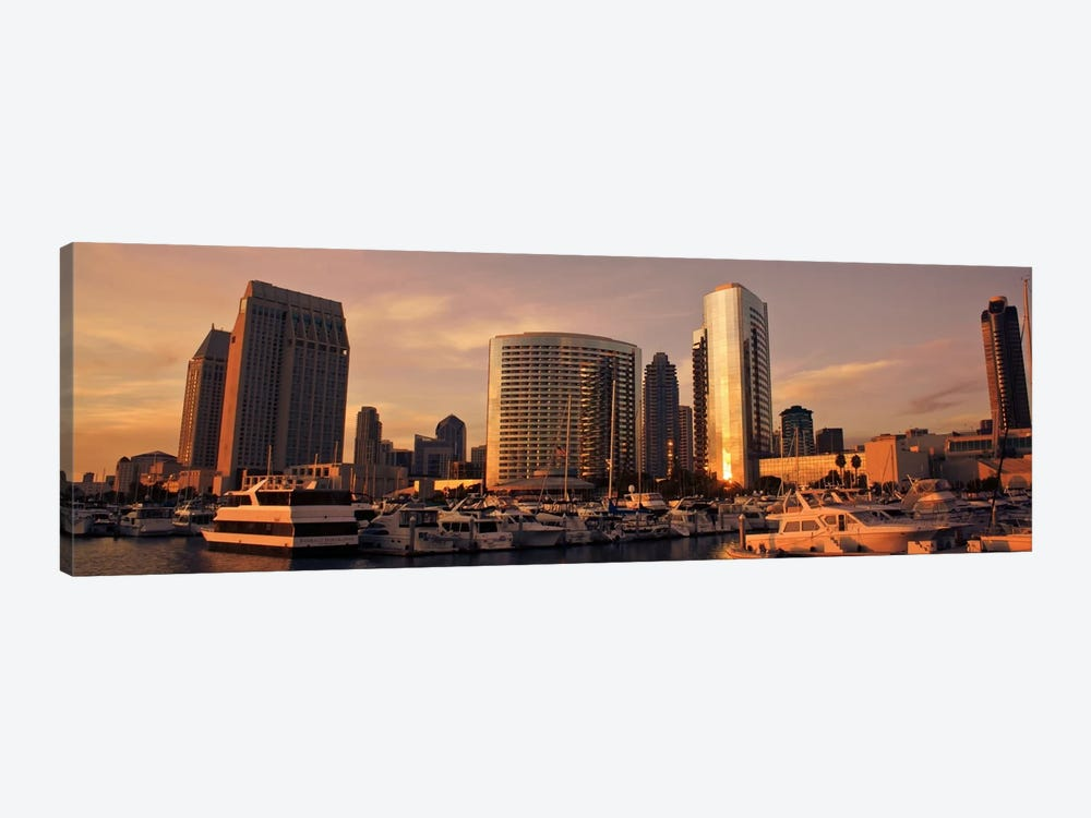 San Diego Panoramic Skyline Cityscape by Unknown Artist 1-piece Canvas Art