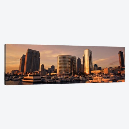 San Diego Panoramic Skyline Cityscape 3-Piece Canvas #6335} by Unknown Artist Canvas Artwork