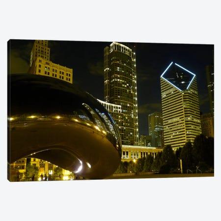 Chicago Cloud Gate Aka The Bean Cityscape Canvas Print #7004} by Unknown Artist Canvas Art Print