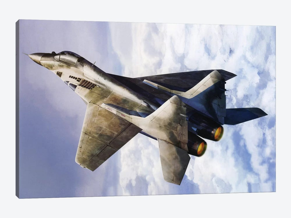 Russian Mig 29 Jet Fighter by Unknown Artist 1-piece Canvas Wall Art