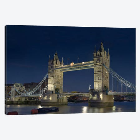 London Tower Bridge At Night Canvas Print #7011} by Unknown Artist Art Print