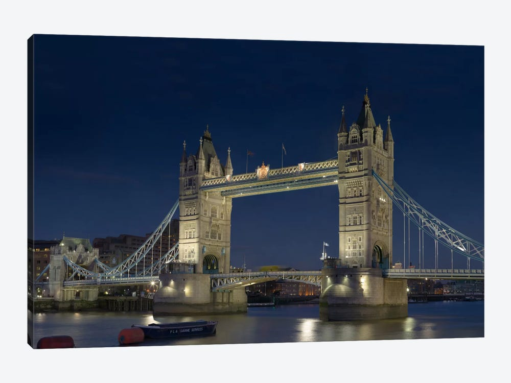 London Tower Bridge At Night by Unknown Artist 1-piece Canvas Wall Art