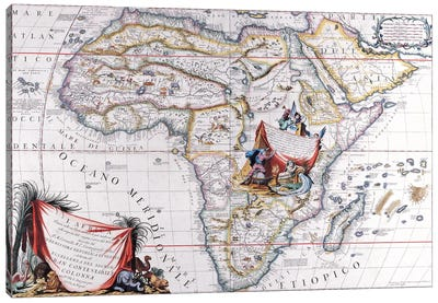 Antique Map of Africa Canvas Print #7021
