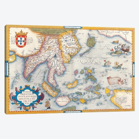 Antique Map East Asia Canvas Print #7024} by Unknown Artist Canvas Print
